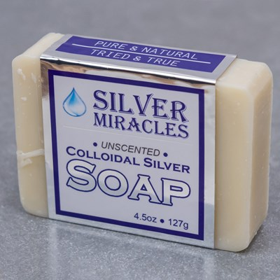 Silver Miracles Unscented Colloidal Silver Bar Soap