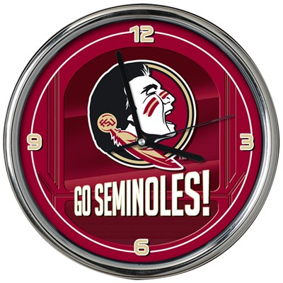 Chrome Wall Clock - Florida State