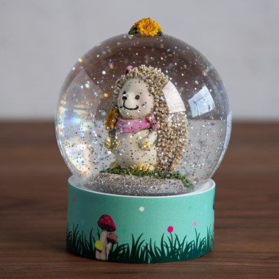 Hedgehog Light Up Water Globe
