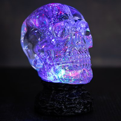 Color-Changing Skull Glitter Globe
