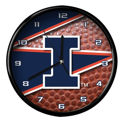 Illinois - Football Clock