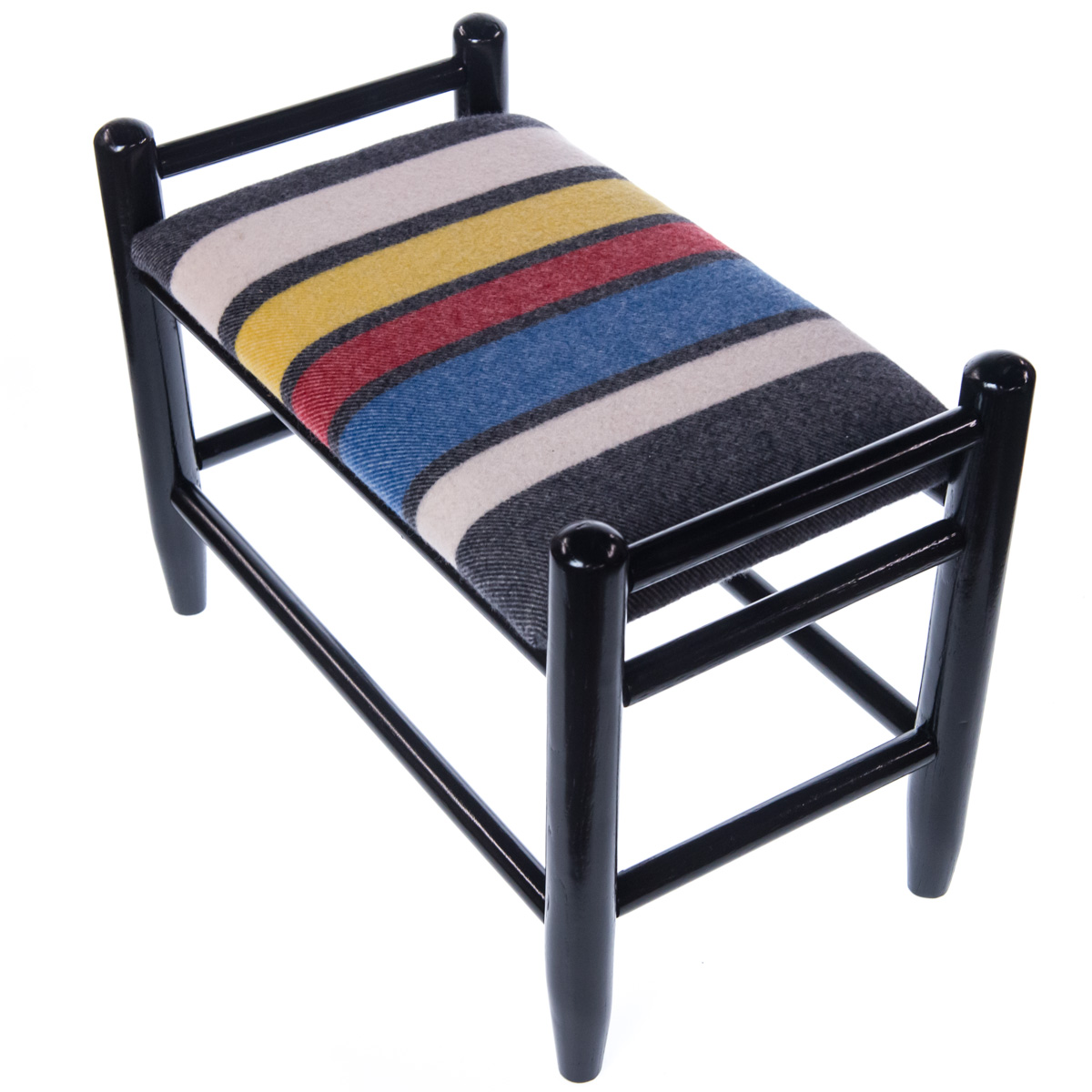 Striped Foot Stool Ottoman