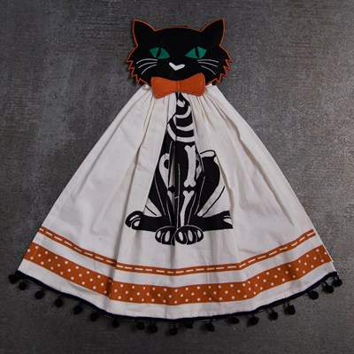 Halloween Cat Kitchen Towel