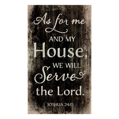 """We Will Serve The Lord"" Pine Pallet Wall Decor"