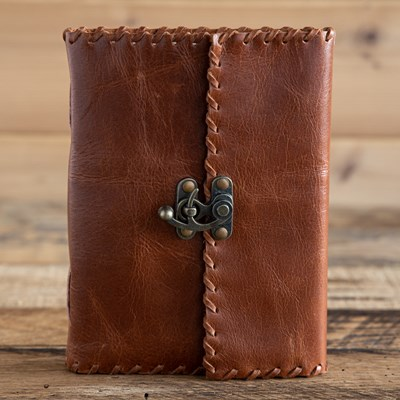 Leather Whipstitch Journal