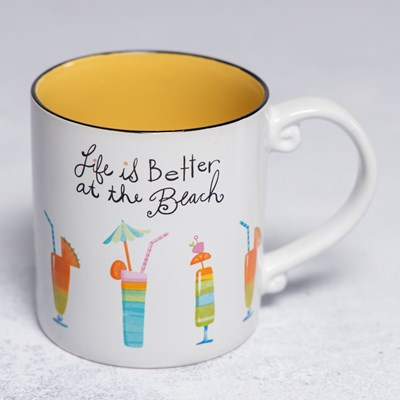 21 Oz Life Is Better At The Beach Mug