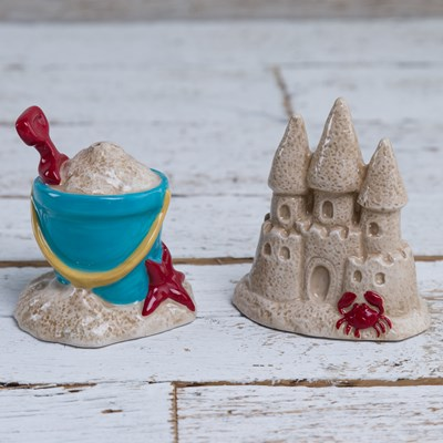 Sandcastle and Bucket Salt and Pepper Shaker Set