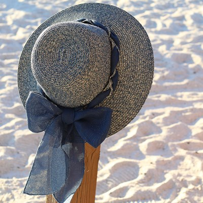 Blue Bow Hat