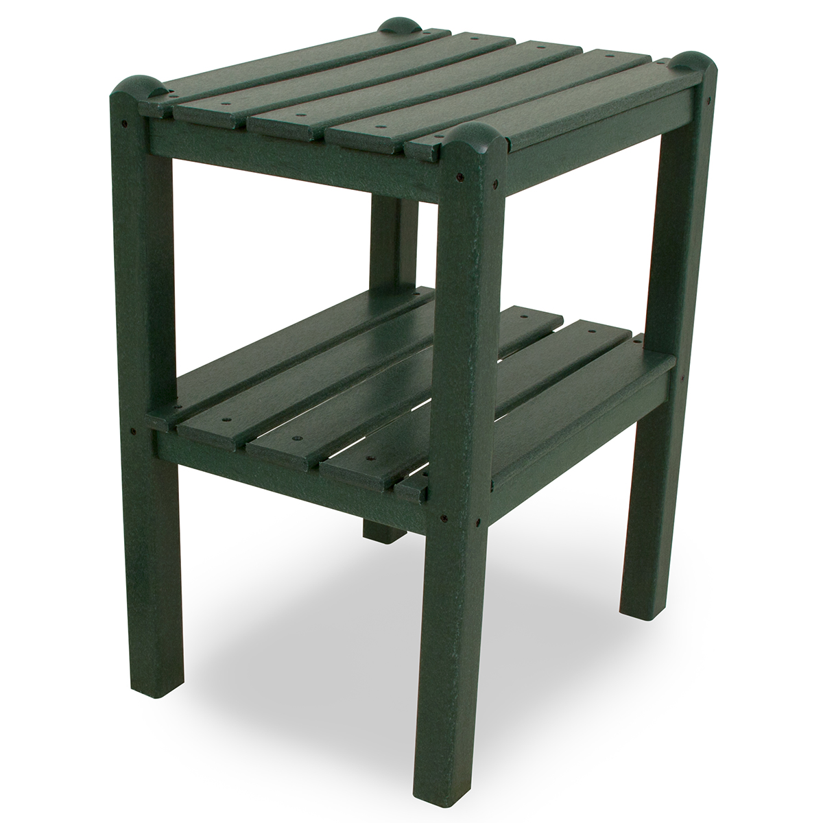 Polywood All-Weather Two-Shelf Side Table