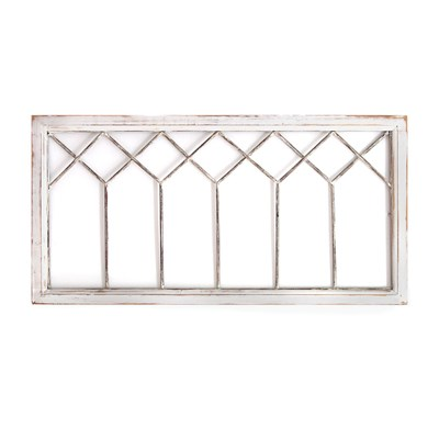 Distressed Window Panel Wall Decor