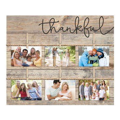 """Thankful"" Photo Board Wall Decor"