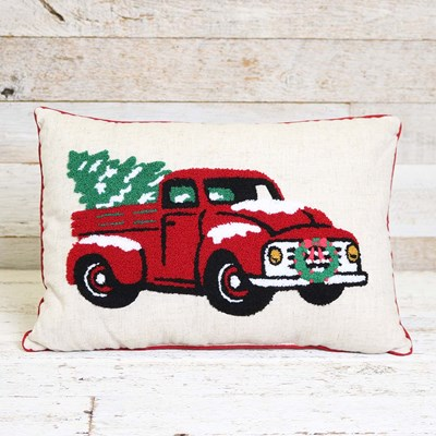 Red Truck Pillow