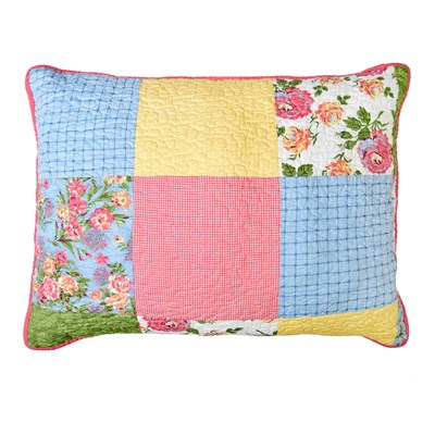 Sunny Patchwork Quilted Standard Sham by Donna Sharp