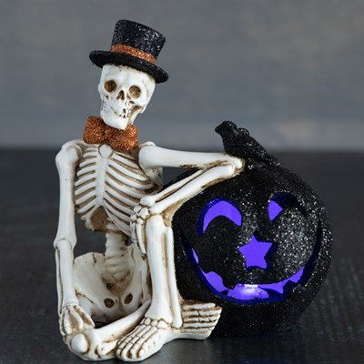 Light-Up Skeleton Decor