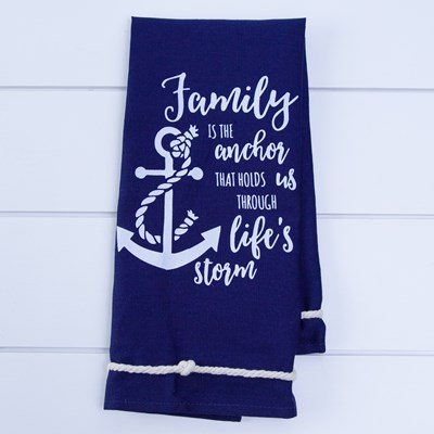 """Family is the Anchor"" Kitchen Towel"