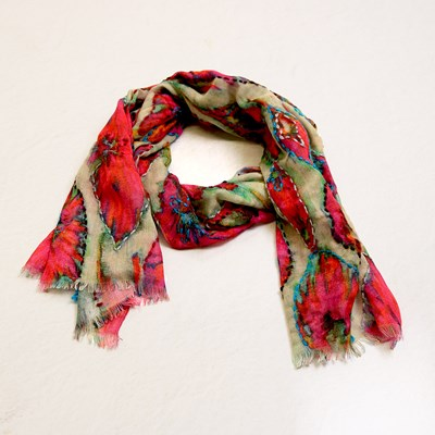 Embroidered Fashion Scarf
