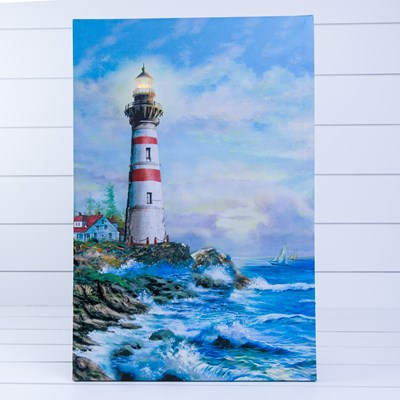 Light-Up Canvas with Lighthouse