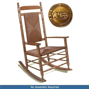 Fully Assembled Woven Seat Rocking Chair   Hardwood