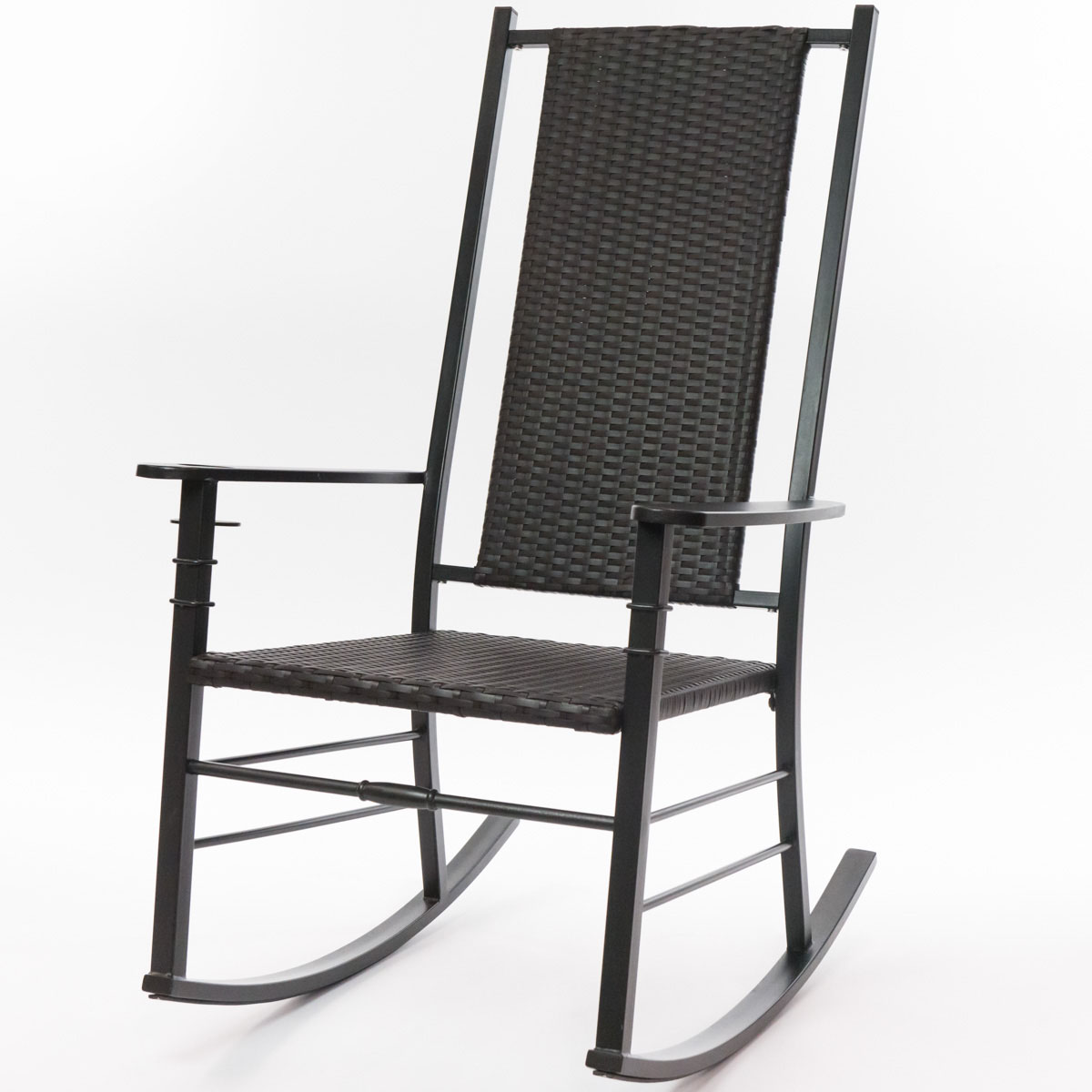 Outstanding Black Palm Harbor Wicker Rocking Chair Bralicious Painted Fabric Chair Ideas Braliciousco