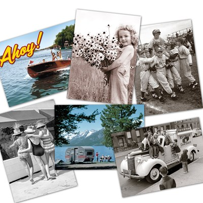 Assorted American Summer Fun Cards - Set of 6