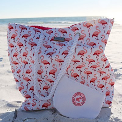 2-Piece Flamingo Beach Tote