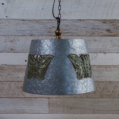 Metal Pendant Lamp with Butterfly Cut