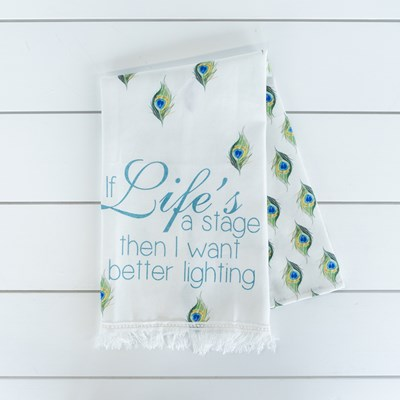 """Life's a Stage"" Kitchen Towel"