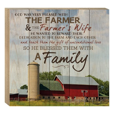"""The Farmer and the Farmer's Wife"" Barn House Box Sign"