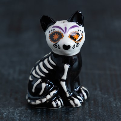 Mini Sugar Skull Cat Pepper Shaker