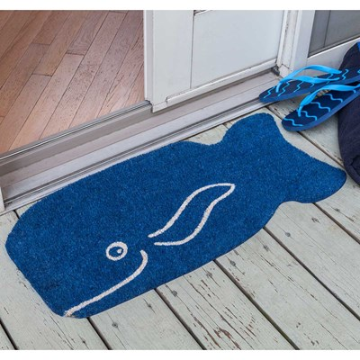 Friendly Whale Non Slip Coir Doormat
