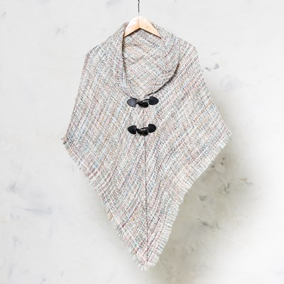 Women's Woven Toggle Shawl