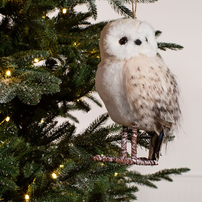 Snowy Owl Figurine Ornament - Small