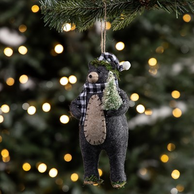 Fabric Bear Ornament