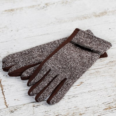 Brown Bow Gloves