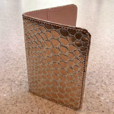 Rose Gold Passport Holder