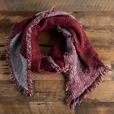 Burgundy Oblong Scarf