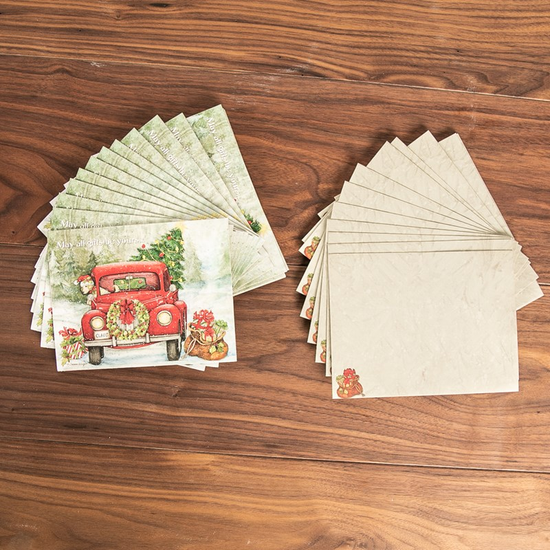Santa\'s Truck Boxed Christmas Cards - Cracker Barrel Old Country Store