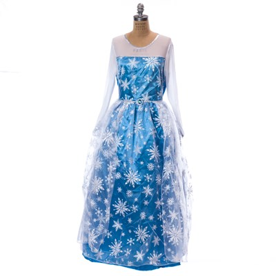 blue snowflake adult princess costume