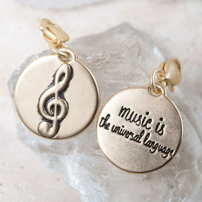 """Music Is The Universal Language"" Music Note Charm"