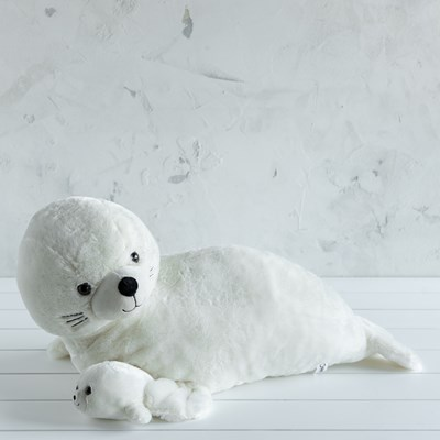 Jumbo Seal with Baby Plush