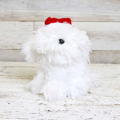 Santa Hat Animated Puppy
