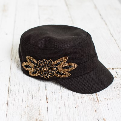 Cabbie Hat with Embellishment