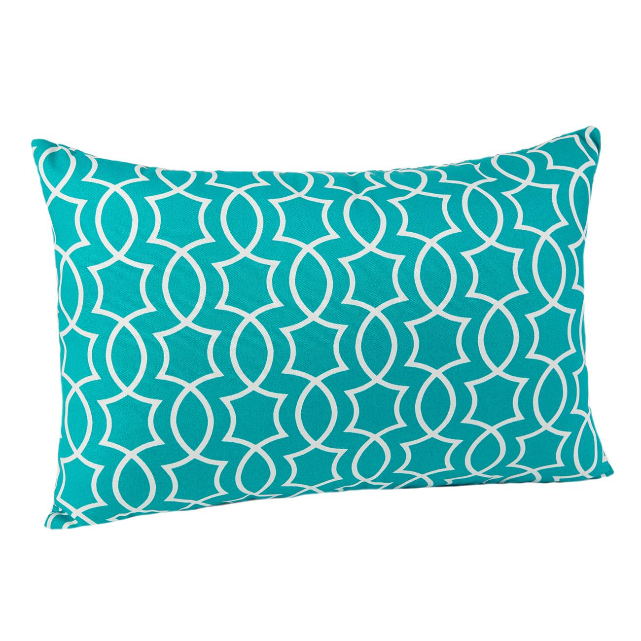 Titan Peacock Lumbar Pillow
