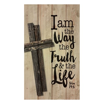 """I Am The Way, The Truth, and The Life"" Pine Pallet Wall Decor"