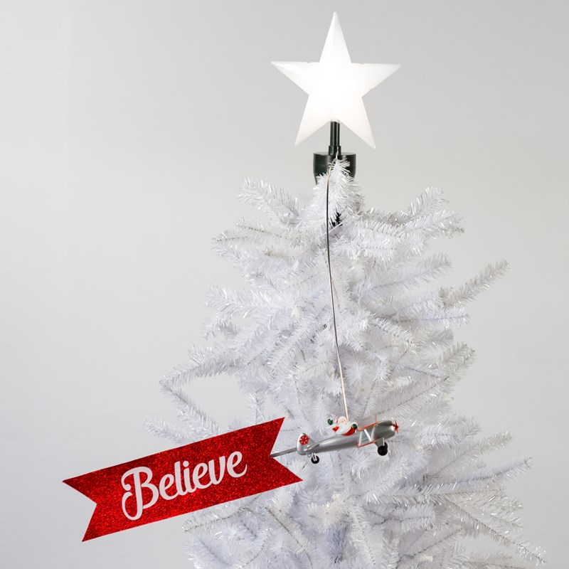 biplane animated tree topper cracker barrel old country store