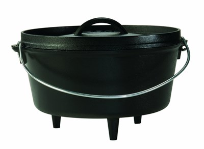 Lodge ® 5-Quart Cast Iron Camp Dutch Oven