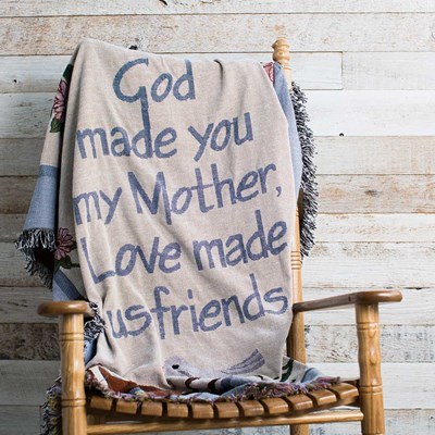 """God Made You My Mother"" Jaquard Throw"