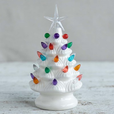 Nostalgic LED Ceramic Christmas Tree