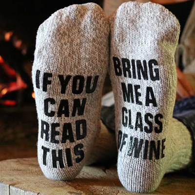 Bring Me Wine Slipper Socks