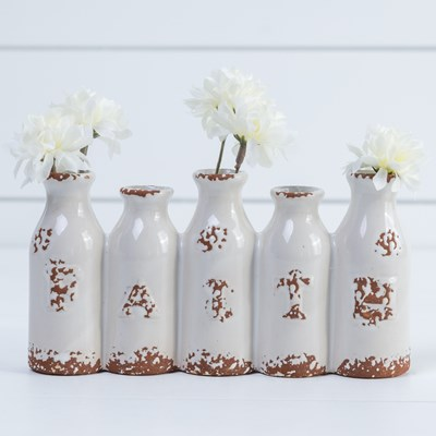 "Ceramic ""Faith"" Posy Vases"